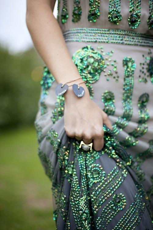 vestido novia verde esmeralda