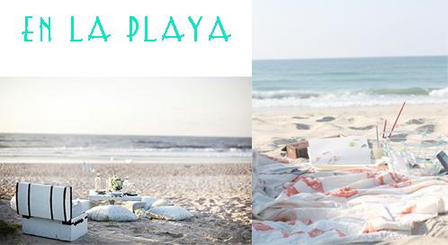 picnic en playa