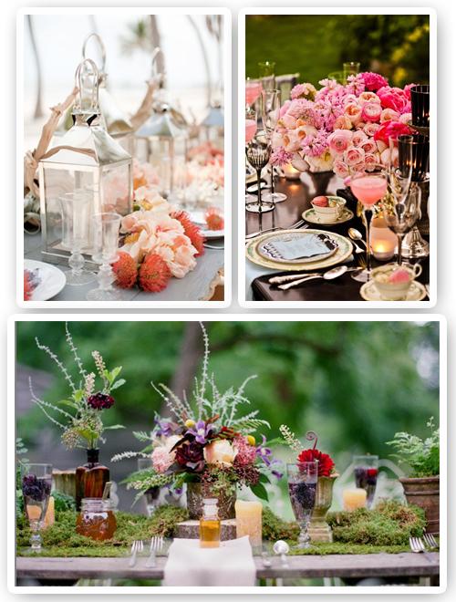 detalles mesa de bodas