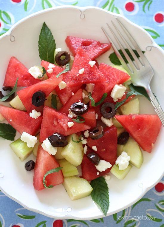ensaladas ligeras, ensaladas verano, ensaladas con sandia
