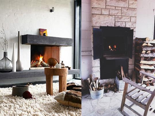 Decoraci n acogedora de invierno inspiraci n cocktail - Decoracion con chimeneas ...