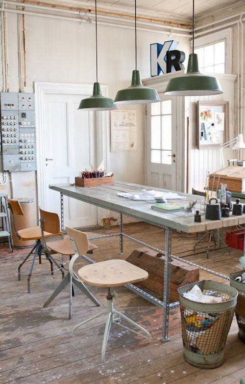 escritorio en la cocina
